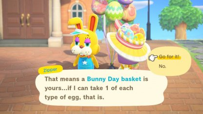 Exchange 6 Eggs To Get Bunny Day Basket
