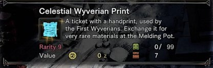 Complete To Get Celestial Wyverian Print