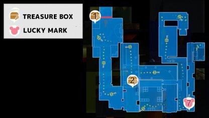 Kingdom Hearts 3   KH3 Monstropolis - Treasure Chest & Lucky Emblem Locations