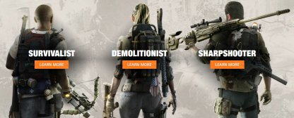 Division 2 Choose Between Survivalist, Demolitionist, & Sharpshooter