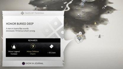 Honor Buried Deep Location