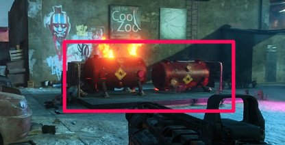 Fuel Containers Are Red & Scattered In Area