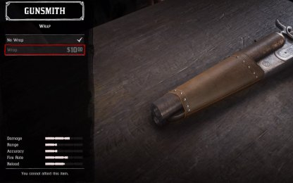 Red Dead Redemption 2 Weapon Customization