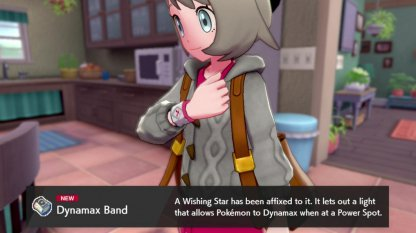 Receive Dynamax Band From Prof. Magnolia