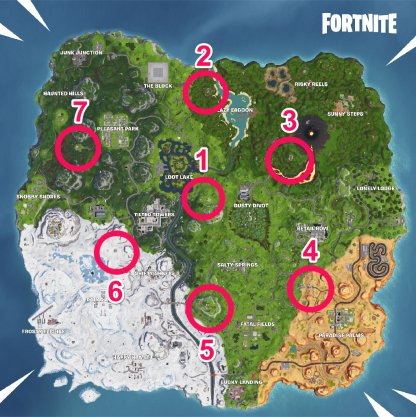 Fortnite Season 8 Visit All Pirate Camps Season 8 Week 5 Challenge Map