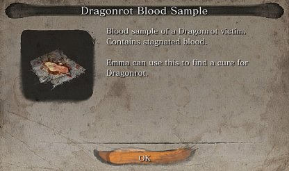 Grab Dragonrot Blood Sample From Infected NPC