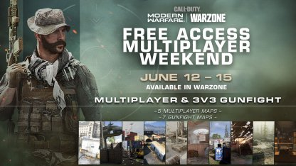 Free CODMW Multiplayer Weekend June 12 ~ 15