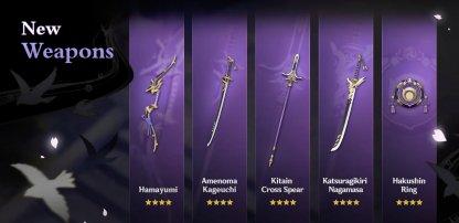 Inazuma Weapons
