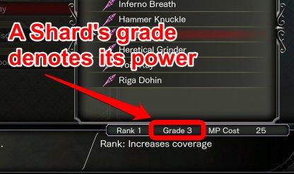 Grade Denotes Shard Power