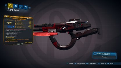 Weapon: Cutsman (Legendary SMG)