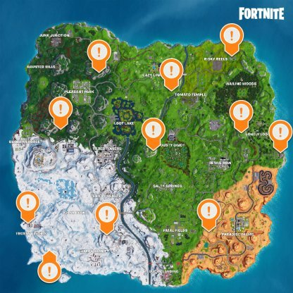 Fortnite | Battle Royale Complete Timed Trials In An X-4 Stormwing Plane (Week 9) Stormwing location