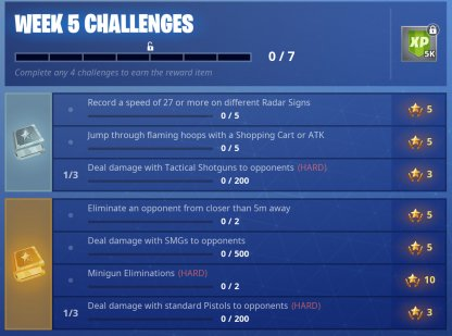 Fortnite Season 6 Week 5 Challenge Guide & Tips