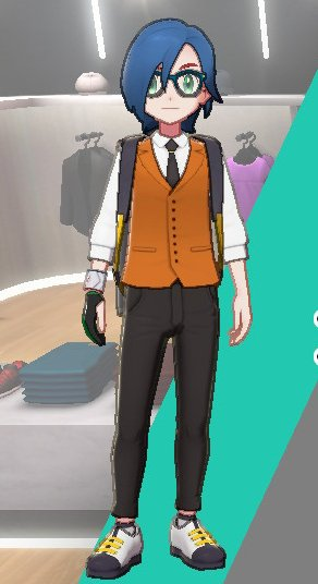 Vest And Tie Ensemble (Orange)