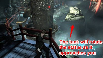 Use the Tank to Move the Statue