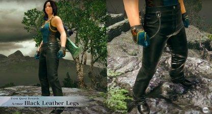 Black Leather Legs Armor