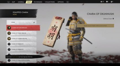 Equip Omamori Charms To Mod Stats & Gears