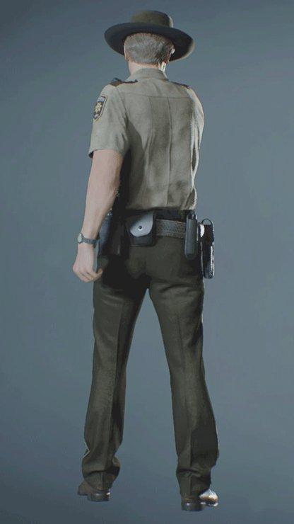 Leon - ARKLAY SHERIFF Pistol Back