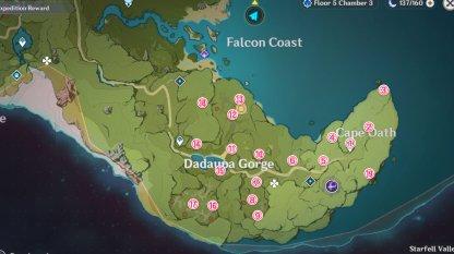 Dadaupa Gorge Meteorite Shards Locations