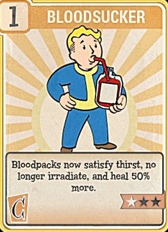Fallout 76 Perk Card Charisma Bloodsucker