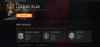Play Pro Series & League Play Events
