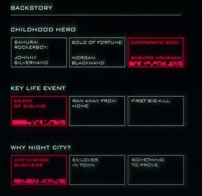 Backstory Options