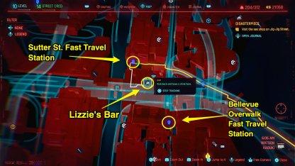 Lizzie's Bar Location