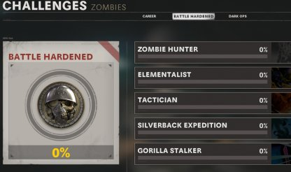 Separate Challenges For Multiplayer & Zombies