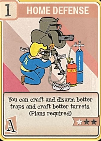 fallout 76 Perk Card Agility Home Defense