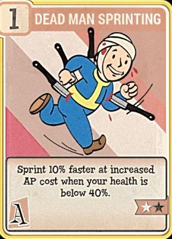 fallout 76 Perk Card Agility Dead Man Sprinting