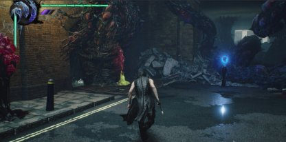 Devil May Cry 5 Blue Orb Location Mission 4 Left Path From White Van