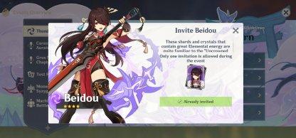 Beidou - Thunder Sojourn Event
