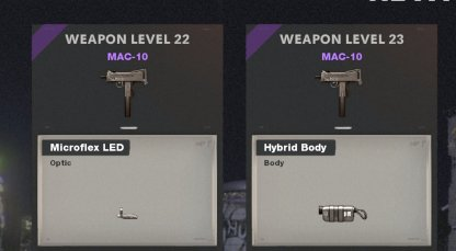 Unlocks With Weapon Level
