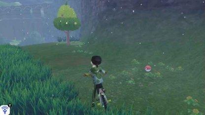 Poke Ball Near Berry Tree In Giant