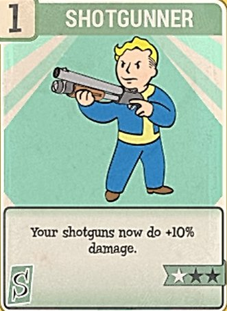 Fallout 76 Perk Card Strength Shotgunner