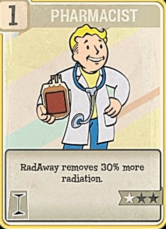 Fallout 76 Perk Card Intelligence Pharmacist
