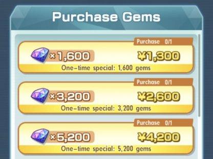Purchasing Gems