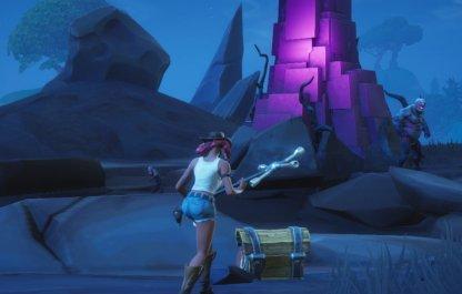 Fortnitemares Challenges Part 4 Destroy Cube Fragments