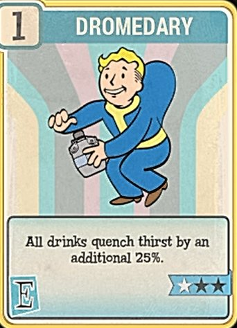 Fallout 76 Perk Card Endurance Dromedary
