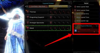 Item Used to Craft Astral Layered Armor