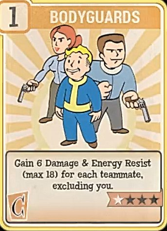 Fallout 76 Perk Card Charisma Field Bodyguards