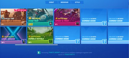 Season 10 (X)  Weekly Challenges Overview