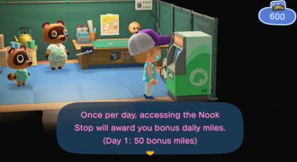 Collect Daily Nook Miles