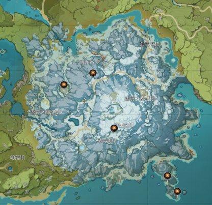All Ruin Grader Locations - Map