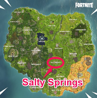 Stage 5: Land at Salty Springs