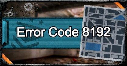 Error 8192 Reappears