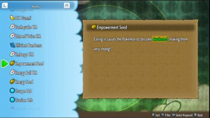 Feed Empowerment Seed To Mega Evolve