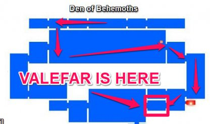 Den of Behemoths To Valefar Map