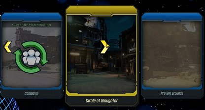 Choice Between Campaign, Circle Of Slaughter, Or Proving Grounds