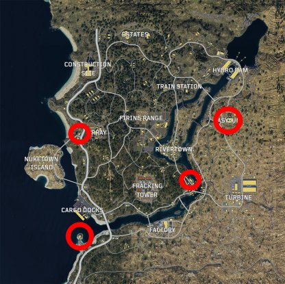 Zombie Spawn Locations In Blackout Mode