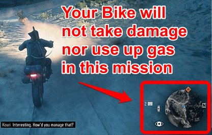 Your Bike Will Not Take Damage Nor Use Gas